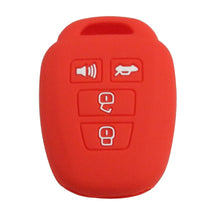 Load image into Gallery viewer, Toyota 4 Button Protective Silicone Rubber Key Fob Cover Case Jacket Skin [SKU: TOYS4B]