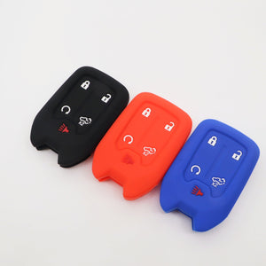 Silicone Protective 5 Button Smart Key Fob Remote Cover Case Jacket Skin For Chevrolet Only [SKU: CHEVS5B]]
