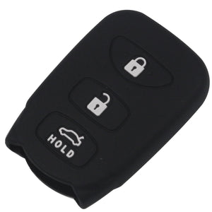 Silicone Protective Rubber 4 Button Transponder Key Key Fob Remote Case Cover Jacket Skin for Hyundai [SKU: KIAHYUS4B]