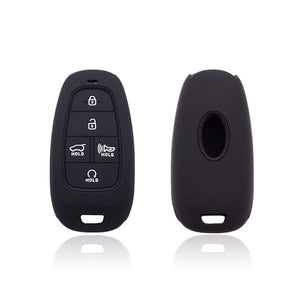 Silicone 5 Button Protective Rubber Key Fob Remote Case Cover Jacket Skin for Hyundai (2020 and newer) [SKU: HYUS5B]