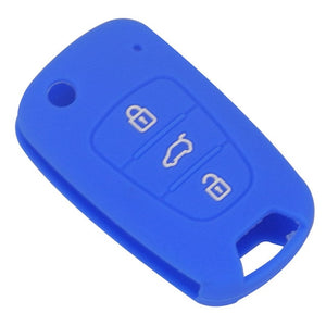 Silicone Protective Rubber 3 Button Car Flip/Switchblade Key Fob Remote Cover Case Jacket Skin for Kia [SKU: KIAHYUS3A]