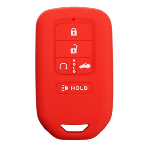 Silicone Protective Rubber 5 Button Car Smart Key Fob Remote Cover Case Jacket Skin for Honda [SKU: HONS5A]