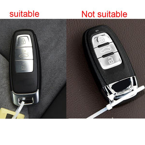 Silicone 3 Button Protective Car Key Fob Remote Cover Case Skin Jacket for New Audi A8 A8L Q8 e-Tron A6 [SKU: AUDIS3E]