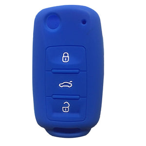 Silicone 3 Button Remote Flip Key Fob Silicone Case Cover For Volkswagen VW [SKU: VWS3A]