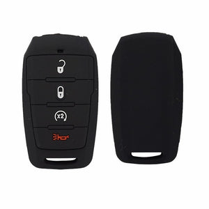 Silicone 4 Button Rubber Protective Smart Key Fob Cover for Dodge Ram 1500 Smart Remote (w/ Remote Start) (2019 and newer)