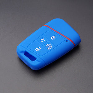 SILICONE Rubber 4 BUTTON Smart Keyless Entry KEY FOB COVER CASE SKIN Jacket FOR VW Volkswagen Tiguan Passat Golf [SKU: VWS4B]