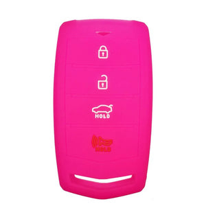 Silicone Protective Rubber Smart Key Fob Remote Case Cover Jacket Skin for for Hyundai Genesis [SKU: HYUS4G]