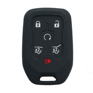 Silicone Rubber 6 Button Smart Key Fob Remote Cover Case Skin for Chevrolet Chevy GMC [SKU: GMS6C]