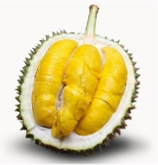 A picture of the Premium MSW Durian cut in half