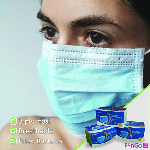 3-ply Disposable Face Mask - PinGo Express