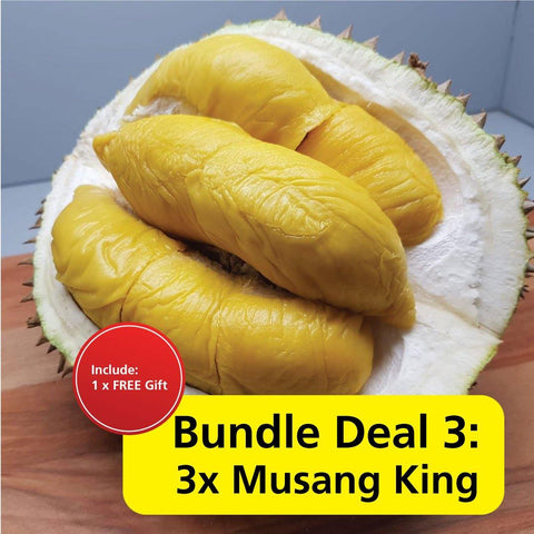 Durian Bundle Deal 3 : 3X Mao Shan Wang Durian (Musang King)
