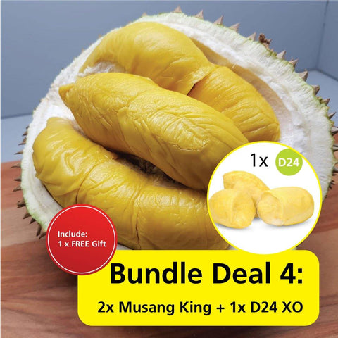 Durian Bundle Deal 4 : 2x Musang King + 1x D24 XO
