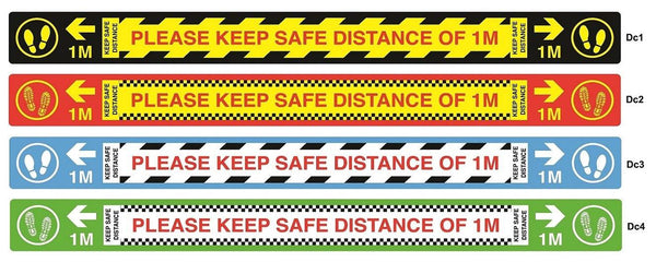 Safety Distancing Decal - Floor Vinyl Marker Sticker - PinGo Express