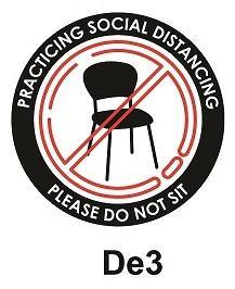 Safety Distancing Decal - Seat & Table Vinyl Marker Sticker