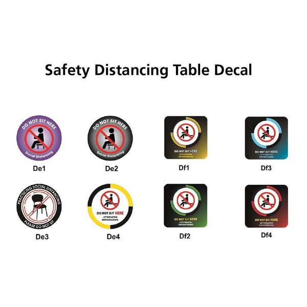 Safety Distancing Table Decal