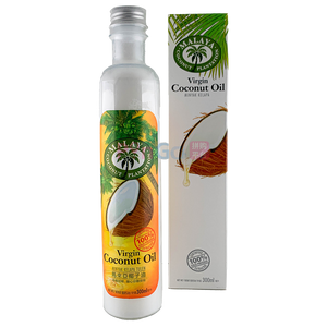 100% Cold Pressed Malaya Coconut Plantation Virgin Coconut Oil 300ml 冷压初榨马来亚椰子油