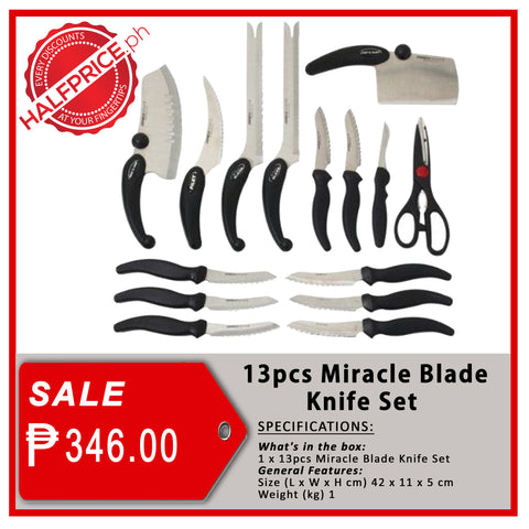 13pc. Miracle Blade Knife Set
