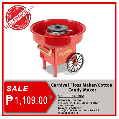 Carnival Floss Cotton Candy Maker