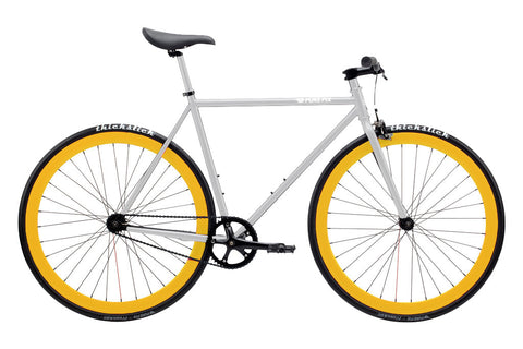 PURE FIX Fixed Gear Bikes (Glow-in-the-Dark White Frame/Yellow Rim)