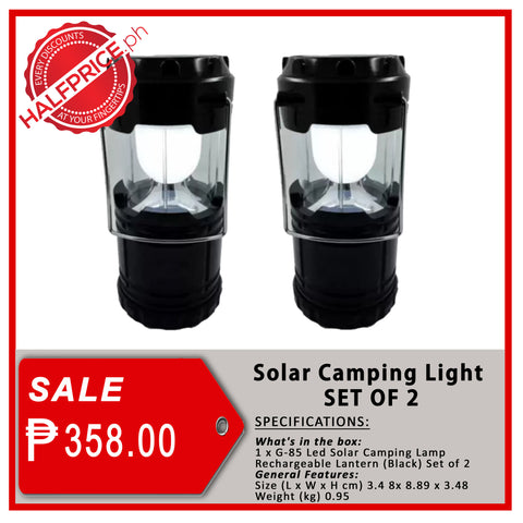 Solar Camping Light (SET OF 2)