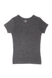 Fitted Round Neck T-Shirt - Dark Heather Grey