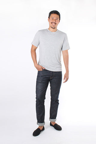 Men's Crew Neck T-shirt - Heather Grey