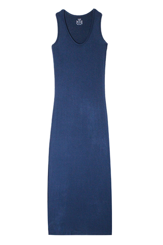 Racerback Maxi Dress - Denim Blue