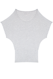 Batwing Tunic Top - Heather Grey