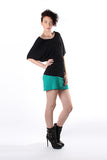 Batwing Tunic Top - Black
