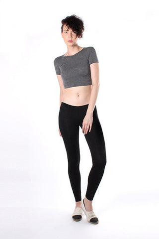 Cropped T-Shirt - Dark Heather Grey