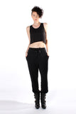 Cropped Tank Top - Black