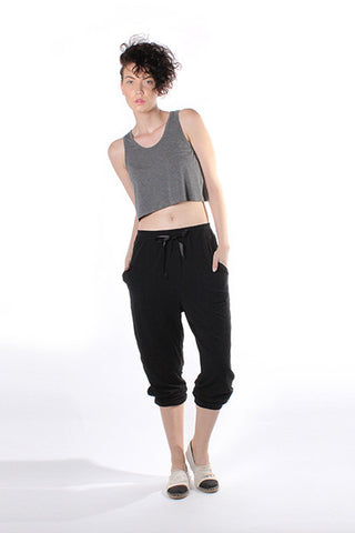 Cropped Tank Top - Dark Heather Grey