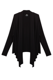 Draped Cardigan - Black