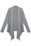 Draped Cardigan - Heather Grey