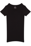 Fitted Round Neck T-Shirt - Black