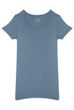 Fitted Round Neck T-Shirt - Sky Blue