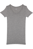 Fitted Round Neck T-Shirt - Heather Grey