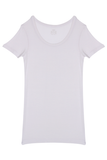 Fitted Round Neck T-Shirt - White
