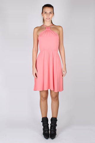 Halter Dress - Peach