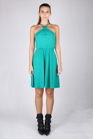Halter Dress - Emerald