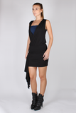 Drape Top with Bandeau Bra - Black