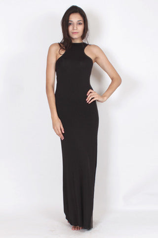Racerback Maxi Dress - Black