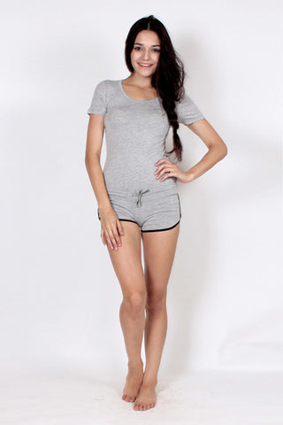 Drawstring Shorts - Heather Grey