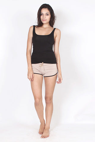 Drawstring Shorts - Tan