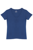 V-Neck T-Shirt - Denim Blue