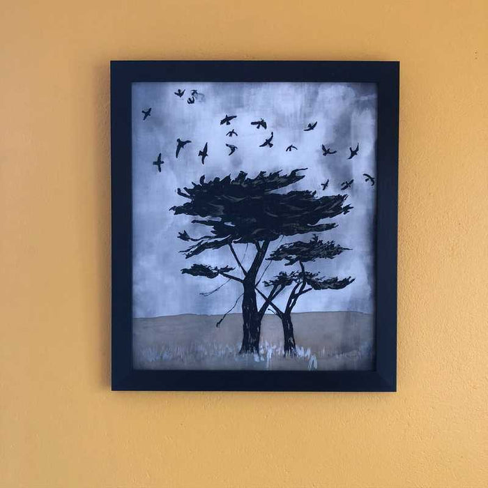 'Flight of Rooks' Original Batik by Anne A. Bologna