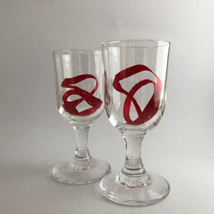 Jerpoint Glass Studios Rummer Wine Goblet - Craft Shop Bantry