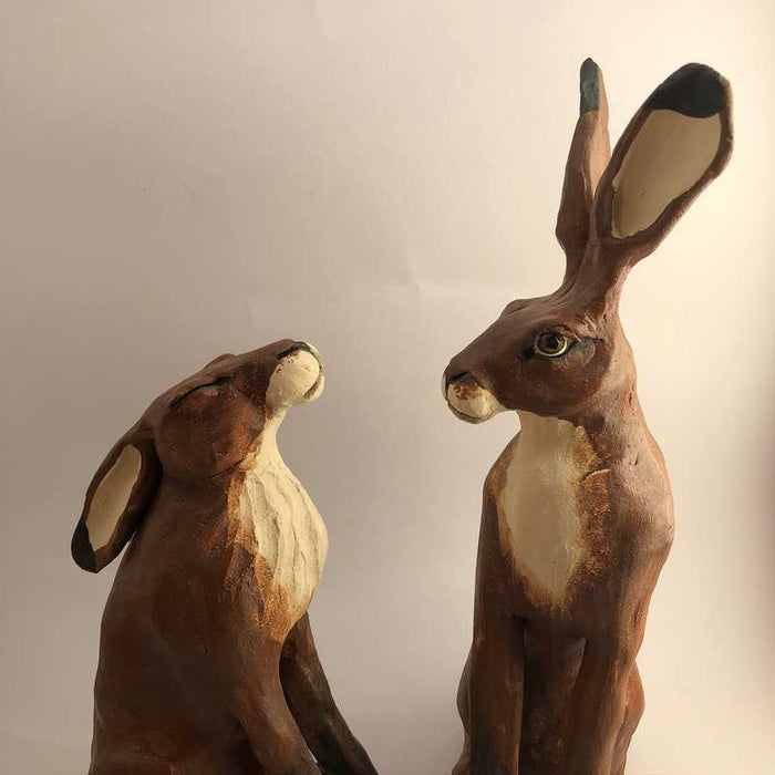 Hare Pair by Joanne Robey