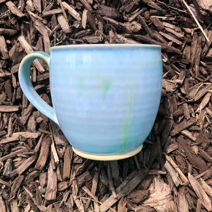 Blue and Jade Round Cup by Rosemarie Durr