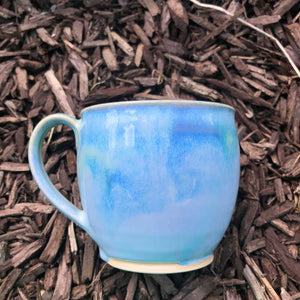 Blue and Jade Round Cup by Rosemarie Durr - Craft Shop Bantry
